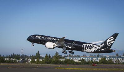 新西兰航空波音787-9客机梦想起航